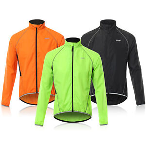 Men Cycling Jacket Reflective Long Sleeve Bicycle Jersey Outdoor Windproof Coat