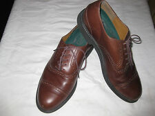 ROCKPORT DRESS SHOES 10M OXFORD LACES CAP TOE BROWN LEATHER LOAFERS MENS