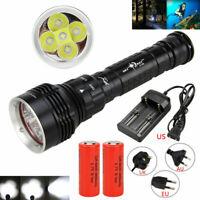 Underwater 5x XML L2 LED Super Bright Scuba Diving Flashlight Light Flashlamp