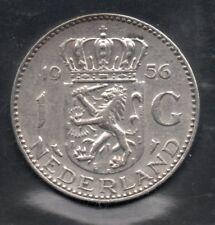 Nederland - 1 gulden - Juliana  - 1956 - silver  - 2 scans