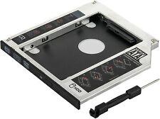 """Caddy SSD et HDD de 2,5""""(9.5mm) Adaptateur disque dur pour Baie de Lecteur DVD"""