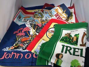 A Bundle Of 7 UK Seaside Tourist Cornwall Devon Blackpool Tea Towels Set NEW #CF