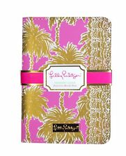 LILLY PULITZER METALLIC PALMS Passport Cover Travel Card Holder Leatherette NEW