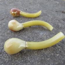 New Natural Pure Mini Handmade Resin Small Yellow Ox Horn Smoking Tobacco Pipe
