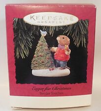 "1994 Hallmark Keepsake Ornament ""Eager for Christmas"" Tender Touches Beaver MIB"