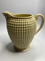 Vintage Maruhon Ware Hobnail Pitcher Cream Corn Color Ceramic Japan