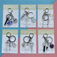 Kpop ASTRO SF9 LOONA WJSN Lightstick Acrylic Keychain Bag Pendant Charm Keyring