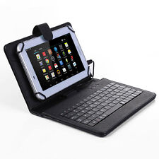 Universal Stand PU Leather Case Cover Micro USB Keyboard for 7'' 8'' inch Tablet