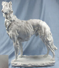 Rießiger Barsoi Windhund Figur Hund Porzellanfigur Herend hundefigur