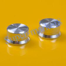 3pcs 24x13 Aluminum Knob Silver For Spline 6mm Shaft Volume Tone Audio AMP Bass