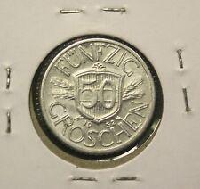 1952 REPUBLIK OSTERREICH - AUSTRIA - 50 GROSCHEN COIN