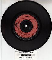 "SLADE  The Bangin' Man 7"" 45 rpm vinyl record + juke box title strip NEW"