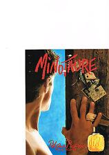 PUBLICITE ADVERTISING   1993   PALOMA PICASSO   parfum  MINOTAURE  pour homme