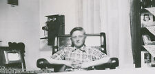 Waiting For Your Call ~ Great Antique Phone & Teen In Rocker ~ Original Photo
