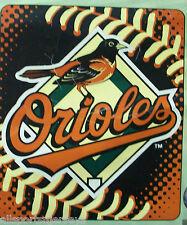 MLB NWT ROYAL PLUSH RASCHEL THROW BLANKET 50X60 STITCHES- BALTIMORE ORIOLES
