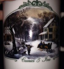 2000 Museum Of The City Of NY Two Currier & Ives Collection Of MCNY Mug Cup