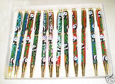 Wholesale 10PCS Mix Colors Chinese Panda Pattern Cloisonne Ball Pens