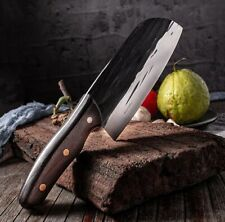 Handmade Forging Cleaver Chinese Chef Knife Handle Slicing & Chopping Cooking