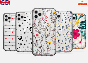 UK Soft Silicone Floral Phone Case iPhone 11 12 6s 7 8 X SAMSUNG S10 S20 P30 Lte