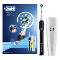 Braun Oral-B Pro 2 2500 + Bonus Reise-Etui  Elektrische Zahnbürsten Cross Action