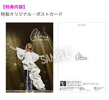 Le Japon postcard + handkerchief + Blu Spec cd2 the Best So Far 2018 Tour Céline Dion