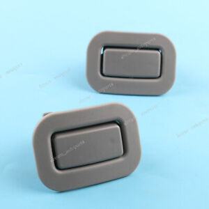 Pair Fit For Subaru Forester 2009-2013 Rear Left Right Seat Recliner Button Gray