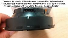 AUDI OEM 07-09 Q7 Outside Mirrors-Adjust Motor Right Passenger 4L0959578 (3-Pin)