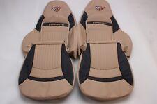Custom Made 1997-2004 C5 Corvette Real Leather Seat Covers Sport Seats Oak/Black