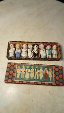 Antique Circa 1930 Bisque Japan Doll Set 8 Boxed-GR8