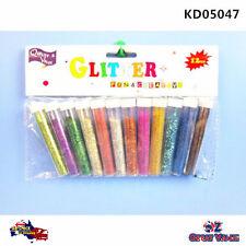 12pcs Multi Color Glitter Shaker 10ml Assorted Colours Craft Art DIY KD05047