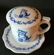 Andrea by Sadek Kitty Cat Mug Lid Cup Mouse Saucer With Strainer