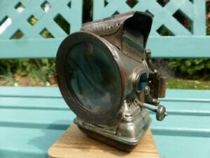 ***ANTIQUE VINTAGE JOS LUCAS & SON'S SILVER KING OF THE ROAD BICYCLE OIL LAMP***