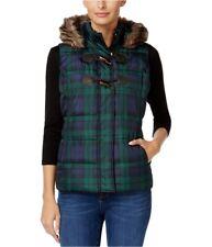Charter Club Womens Faux-Fur Hooded Puffer Vest deepblackcmb XL