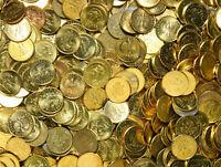 Konvolut Polen - Münzen 2 Grosze 1990-2014 Messing Mischung 1 KILOGRAMM 1 Kg LOT