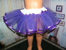 """Purple Net Slip Petticoat Ribbon Trim 36"""" Doll clothes fits Ideal Patti Playpal"""
