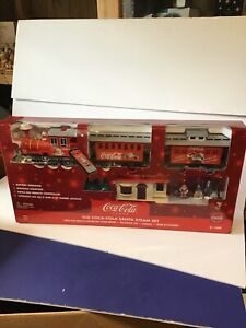 Coca-Cola~ Santa Steam Set Set K-1309 Infra-Red Remote Control Steam Engine ~NIB