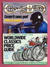CLASSIC BIKE - April 1988 - Worldwide Price Guide - Vincent - Manx Norton - Rumi