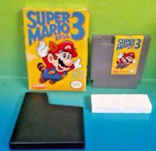 Super Mario Bros. 3 Original NES Nintendo Game  w/ Box & Dust Cover - Rare