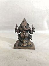 Antique Hindu God Temple Ganesh Bronze Statue Ganesha Sculpture Idol Murti Vtg
