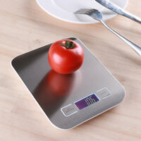 KQ_ Digital LCD 10kg/1g Stainless Steel LED Electronic Scale Kitchen Weighing To