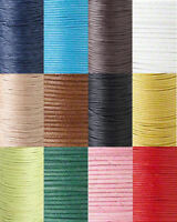 BOGO!! 60Ft Waxed Cotton Cord Jewelry Beading Craft Cording 0.5mm 0.7mm 1mm 2mm
