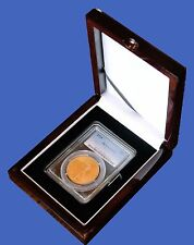 Display Box 1 Coin NGC/PCGS/Premier/Lil Bear Certified Slab Wood Gloss Finish