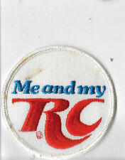 Vintage RC COLA Me And My RC Uniform PATCH Embroidered RARE VARIATION
