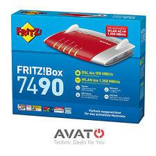 AVM FRITZBox 7490 VDSL DSL Modem ISDN 4-Port Gigabit WLAN Router *24M Gewährl.*