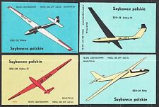 POLAND 1978 Matchbox Label - Cat.G#483/94  set,  Polish gliders.