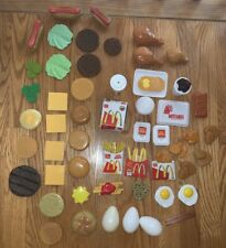 McDonald's & Other Play Pretend Food Meal- drinks, Fries, Hotcakes Over 60 Piece