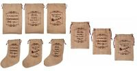 Hessian Christmas Santa Sack Vintage Small Gift Bags Large Stocking Decoration