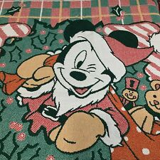 Disney Mickey Mouse Christmas Throw Blanket Santa Fringe JOY Toys Beacon 58x48