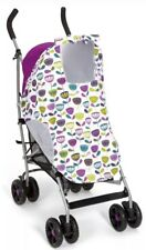 Mamas & Papas Pushchair Sunshade/Sleepshade Pink/Purple Pattern - **Brand New**