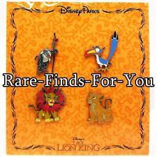 Disney Park Lion King 4-Pin Booster Pack Set Nala Zazu Simba Rafiki (NEW/SEALED)
